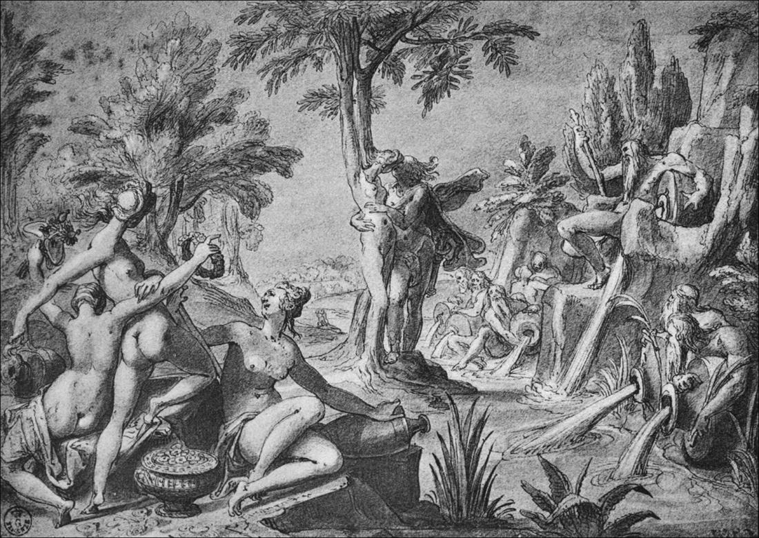 9. Carel van Mander (1588ca) Apolo y Dafne. Galleria degli Uffizi. Florencia.