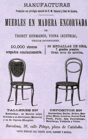 Anuncio Thonet Cornet