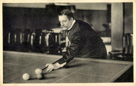 Hugo_Kerkau_practicing_the_game_in_his_billiard_hall-Kerkau_Palast