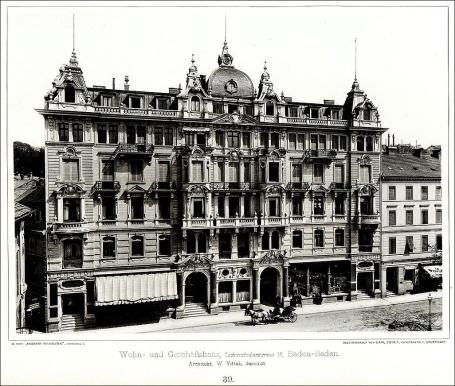 Wohn-_und_Geschäftshaus,_Lichtenthalerstrasse_13,_Baden-Baden,_Architekt_W._Vittali_Baden-Baden,_Tafel_39,_Kick_Jahrgang_II