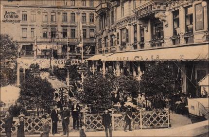 3 1910 Blick auf den Garten am Kai