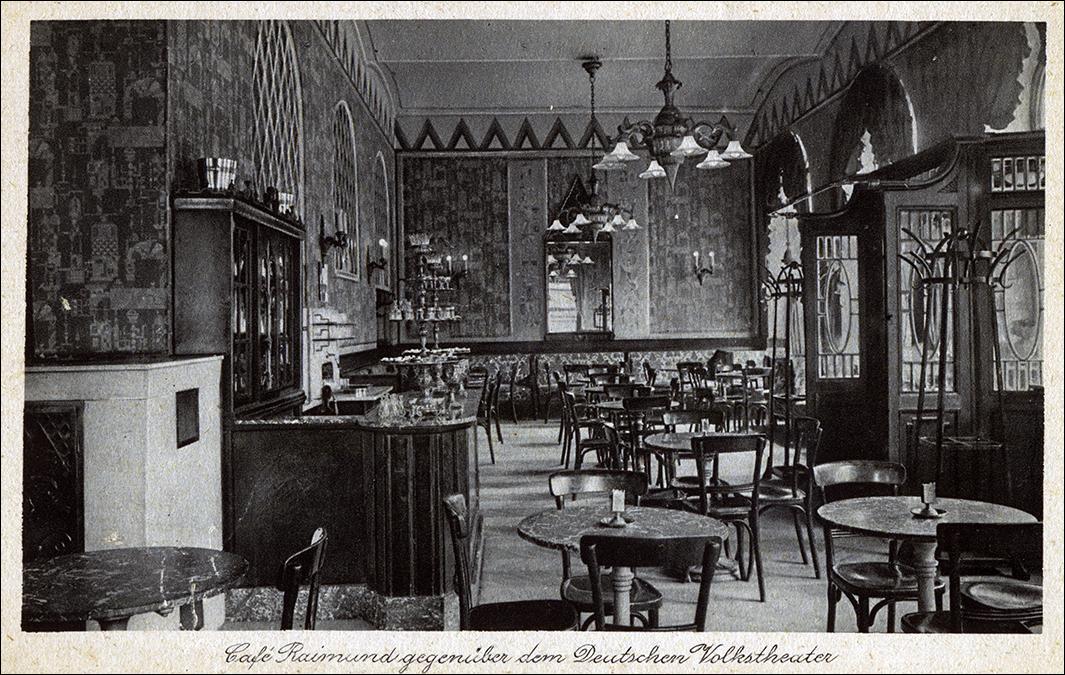 Cafe Raimund Museumstrase 6 1928 color automático
