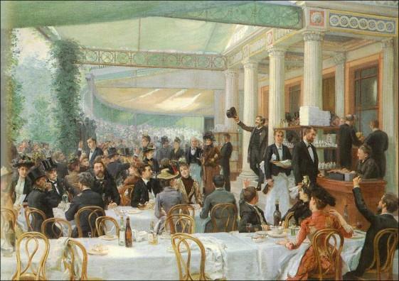 Jean André Rixens (1889). Dejeuner du Salon, au cafe la Cascade.