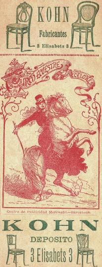 Anuncio de 1892 del círculo ecuestre