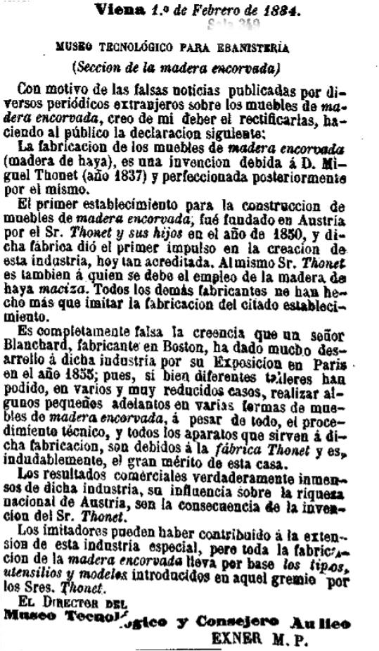 El dia, 3 de abril de 1884 Exner