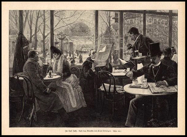 1 Paul Höniger Im Cafe Josty in Berlin, 0 1892