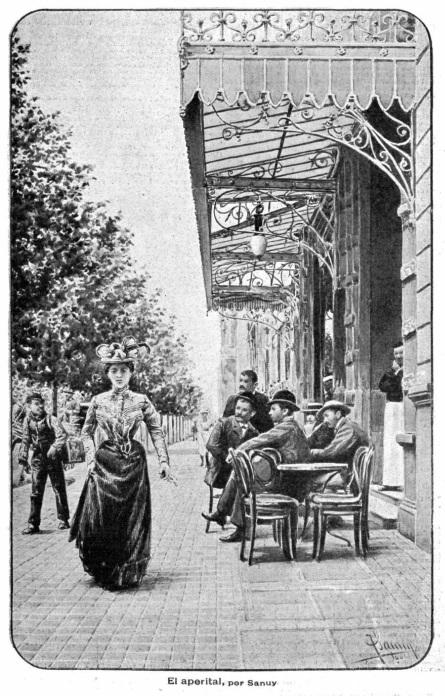 Cafe Tortoni en Caras y caretas nº 126 dos de marzo de 1901