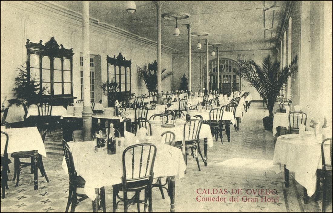 Caldas de Oviedo- Comedor del Gran Hotel