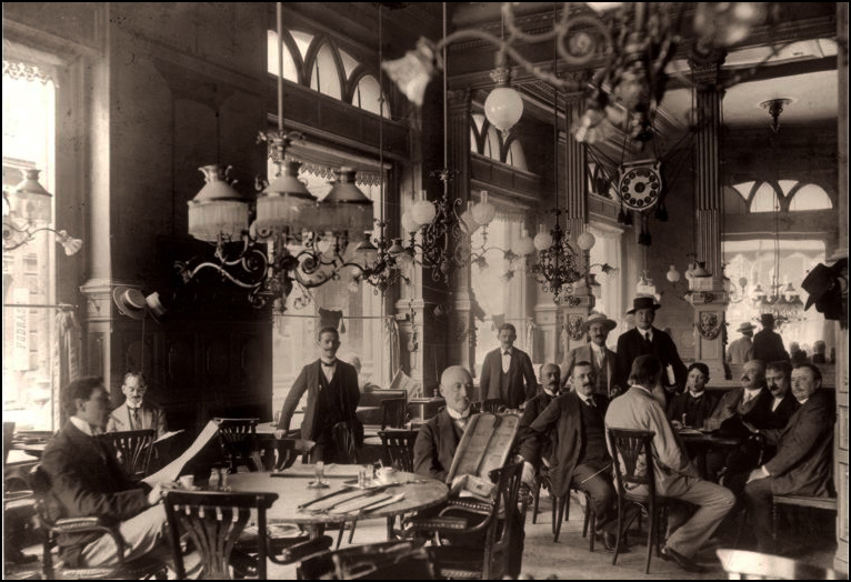 Café Central, c.1910; from The Invisible Jewish Budapest Courtesy of Historical Photography Collection of the Hungarian National Museum