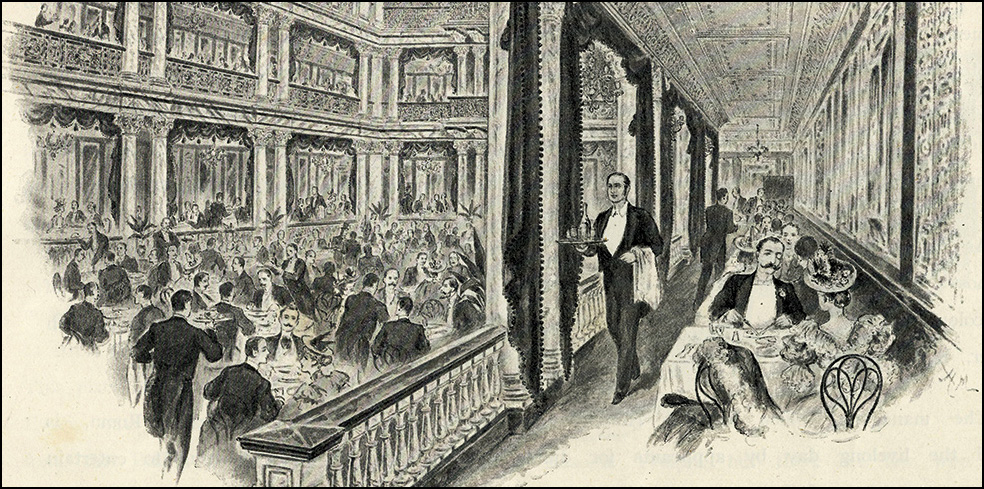 Featured image credit 'The Grand Salon_ in Frederick Leal, 'Holborn Restaurant Illustrated_ (1894). Courtesy of the Bishopsgate Institute.