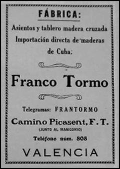 Anuncio de 1922