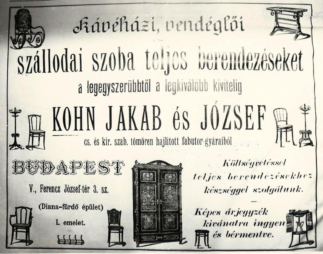 Anuncio de Kohn en Budapest recortado