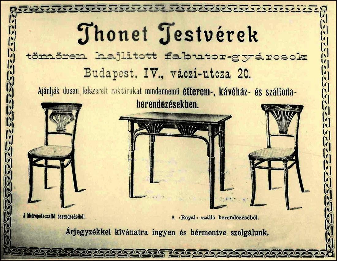 Anuncio de Thonet-Budapest 1900 ca)