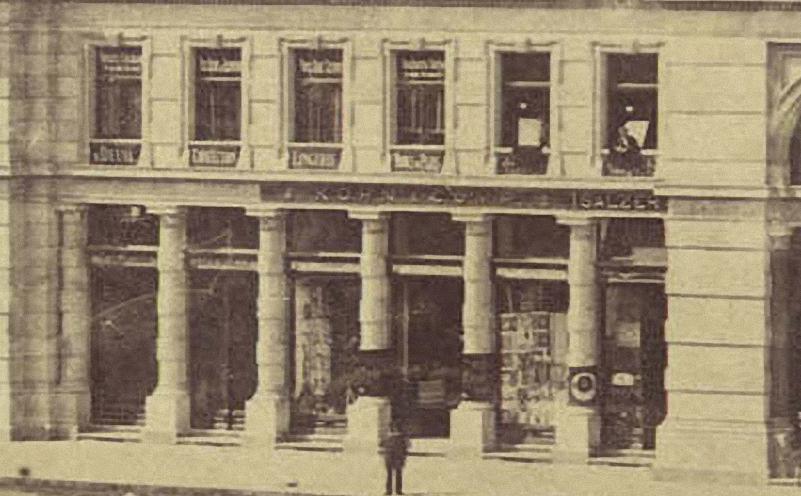 Vörösmarty_(Gizella)_tér,_Haas-palota,_1874_körül_-_Budapest,_Fortepan_82084 detalle Kohn