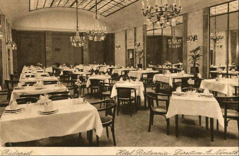 Ismeretlen tervező | Britannia (Béke) Hotel, Budapest - 1930 | Kitervezte.hu
