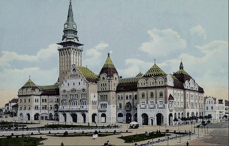 0 Marsel_Komor_i_Deze_Jakab__Gradska_kuca__Subotica__1912_vreme-com