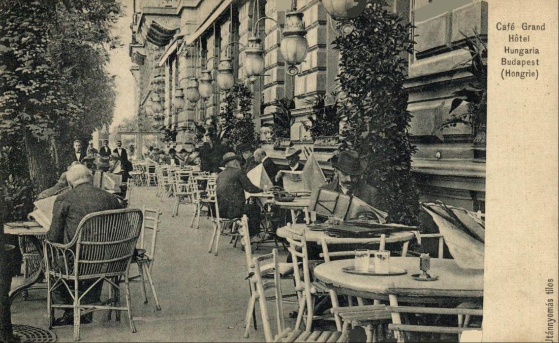 Cafe del hotel hungaria terraza